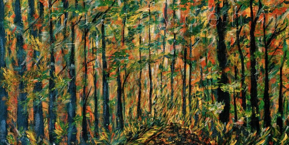 bruce trail, acrylic on canvas by laurie macfayden